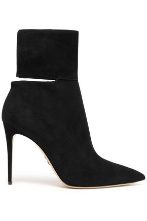 PAUL ANDREW Cutout suede ankle boots