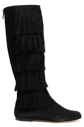 PAUL ANDREW Fringed suede boots