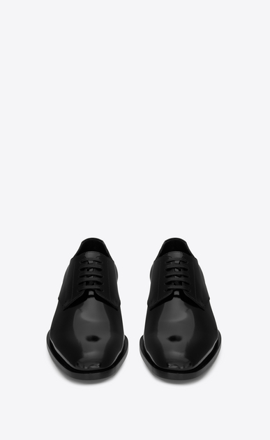SAINT LAURENT Classic Shoes Man montaigne 25 derby shoe in black leather b_V4