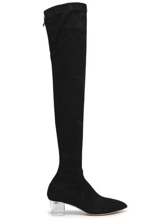 CHARLOTTE OLYMPIA Suede thigh boots