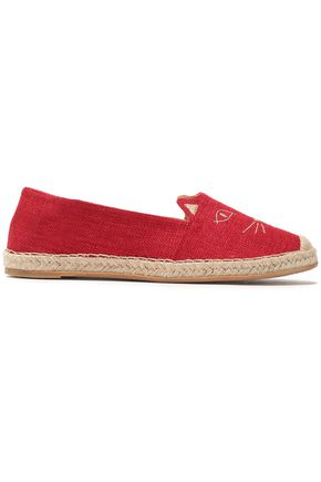 CHARLOTTE OLYMPIA Embroidered canvas espadrilles