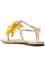 CHARLOTTE OLYMPIA Embellished metallic leather sandals