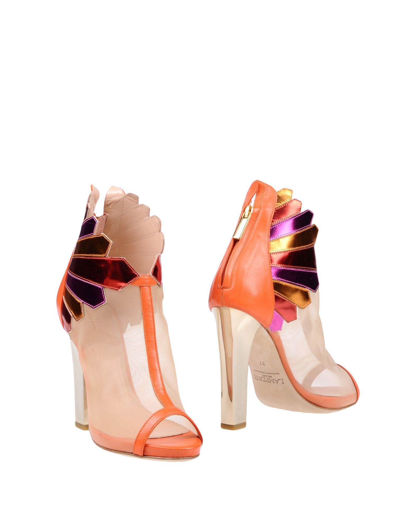 LAMPERTI MILANO Ankle Boots in Orange