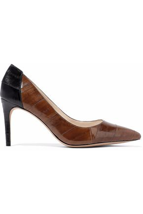 ALEXANDRE BIRMAN Two-tone textured-leather pumps