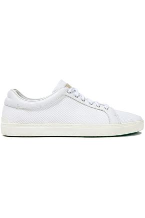 RAG & BONE Leather-trimmed mesh sneakers
