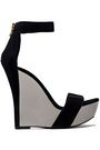 BALMAIN Suede wedge sandals