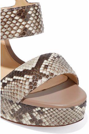 ALEXANDRE BIRMAN Elouise python platform sandals