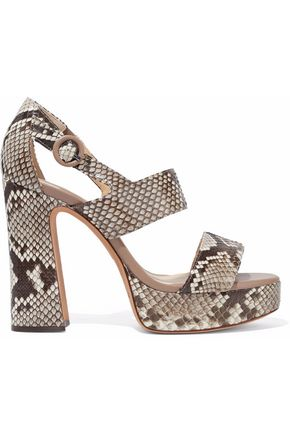 6014096d95d ALEXANDRE BIRMAN Elouise python platform sandals