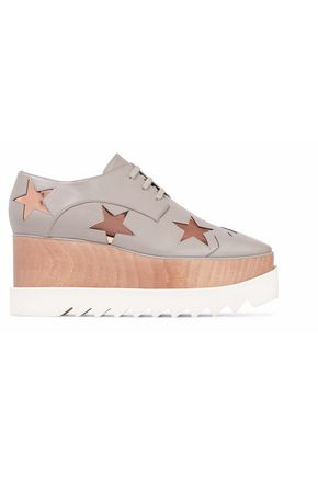 STELLA McCARTNEY Metallic appliquéd faux leather platform sneakers