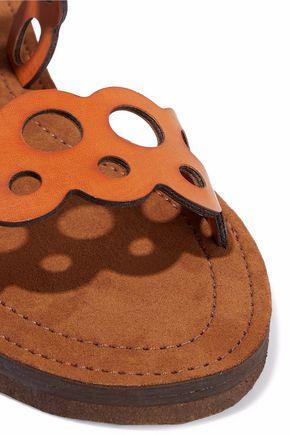 0feea8daf06da0 ... STELLA McCARTNEY Laser-cut faux leather sandals ...