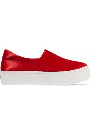 OPENING CEREMONY Satin platform slip-on sneakers