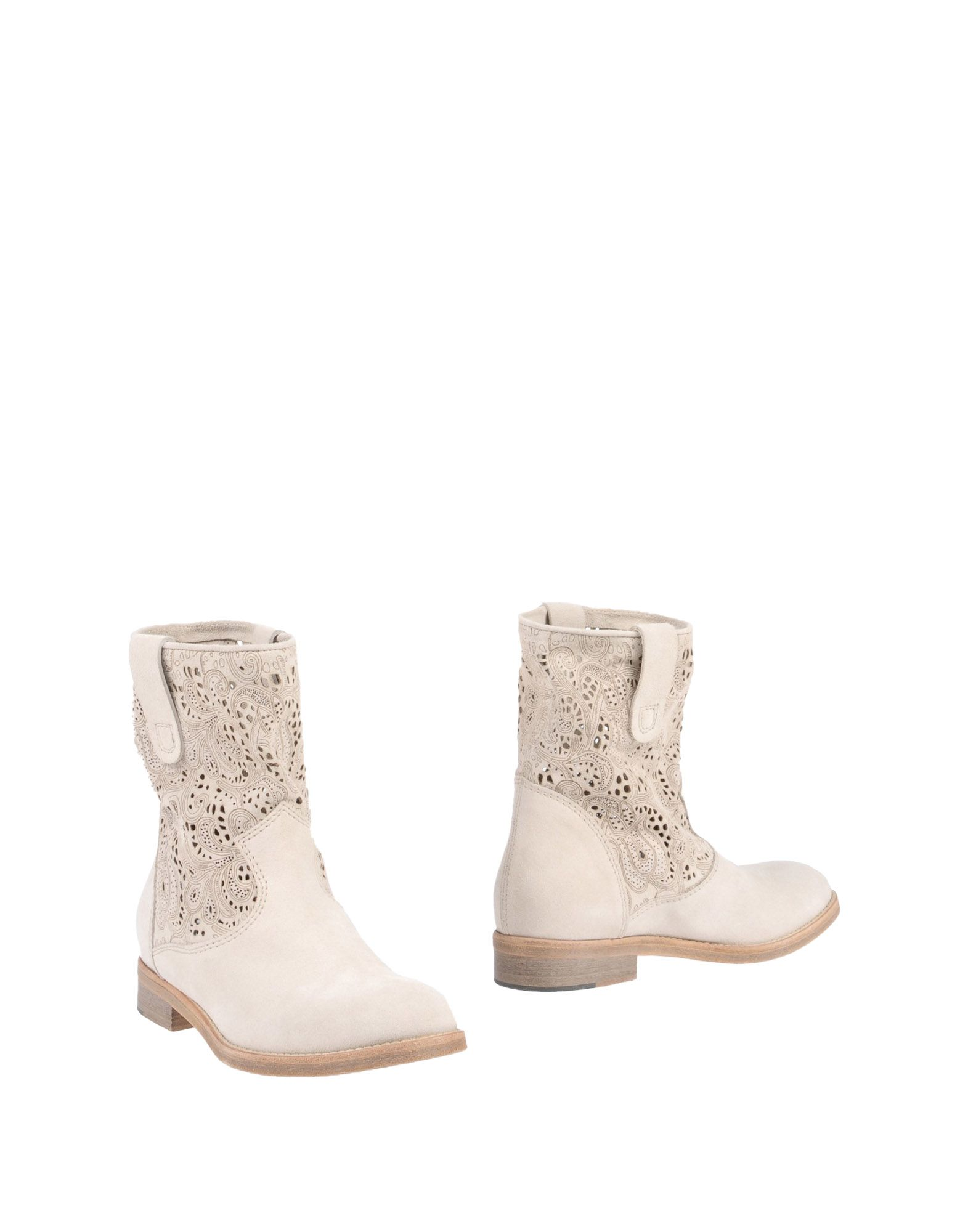 PETER FLOWERS Ankle Boot in Beige