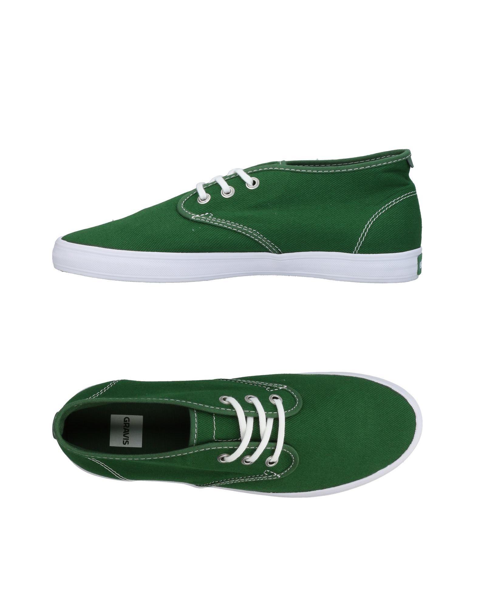 《セール開催中》GRAVIS メンズ スニーカー&テニスシューズ(ローカット) グリーン 7.5 紡績繊維