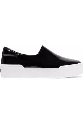 OPENING CEREMONY Patent-leather platform slip-on sneakers
