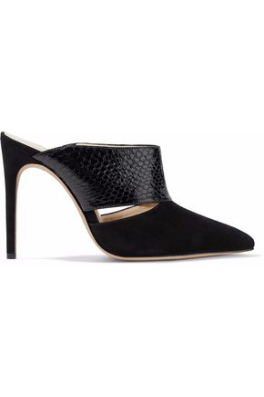 ALEXANDRE BIRMAN Suede and python mules
