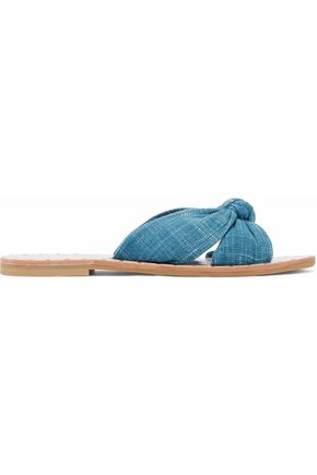 LOEFFLER RANDALL Knotted canvas slides