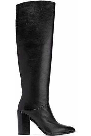 STUART WEITZMAN Scrunchy leather over-the-knee boots