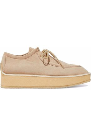 STELLA McCARTNEY Faux suede platform loafers