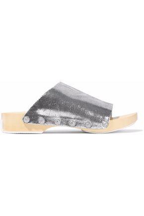 OPENING CEREMONY Studded lamé slides