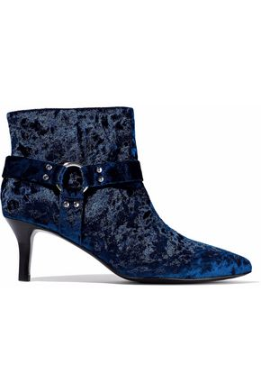 OPENING CEREMONY Embellished crushed-velvet ankle boots