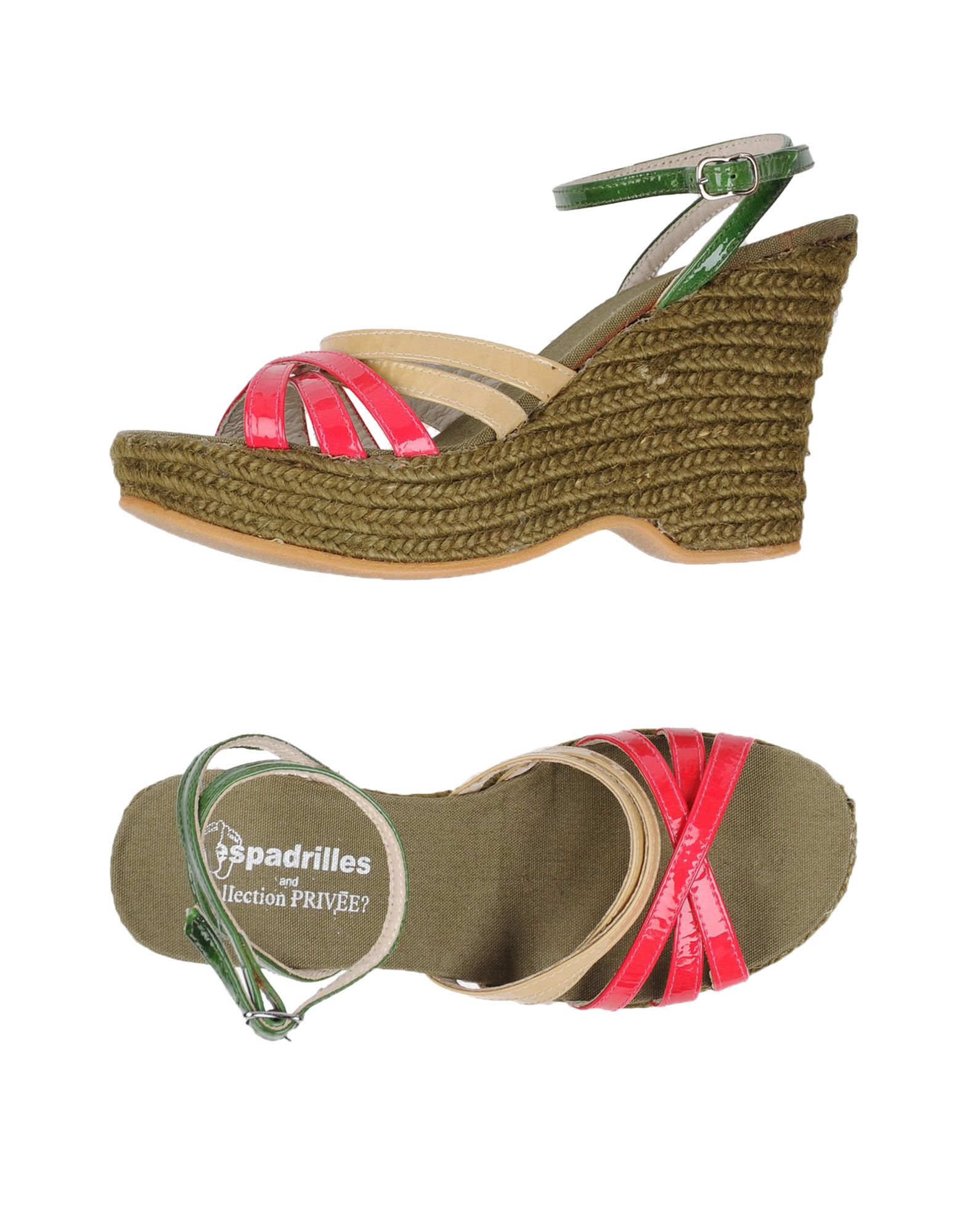 ESPADRILLES and COLLECTION PRIVĒE? Сандалии espadrilles and collection privēe эспадрильи