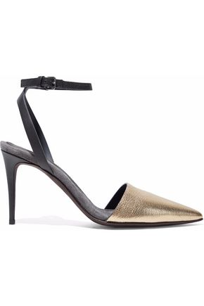 BRUNELLO CUCINELLI Metallic leather pumps