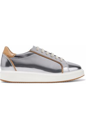 BRUNELLO CUCINELLI Metallic leather sneakers