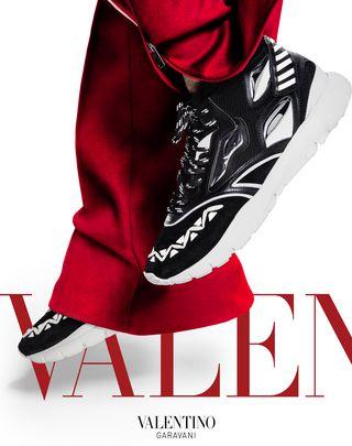 VLTN VALENTINO GARAVANI UOMO Heroes Reflex Sneakers White POLIESTERE 11417643PQ