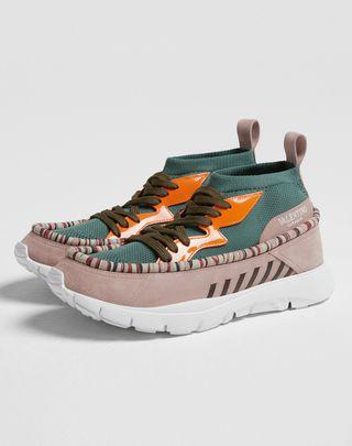 VLTN VALENTINO GARAVANI UOMO Heroes Tribe Sneakers Dark green Calfskin 11417647PN