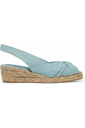 CASTAÑER Knotted canvas espadrillesTwisted canvas espadrille wedge sandals