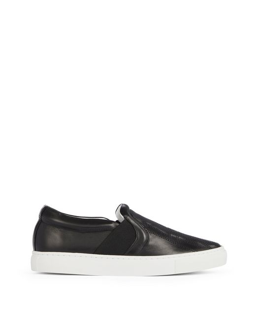 PERFORATED LOGO SLIP-ONS - Lanvin