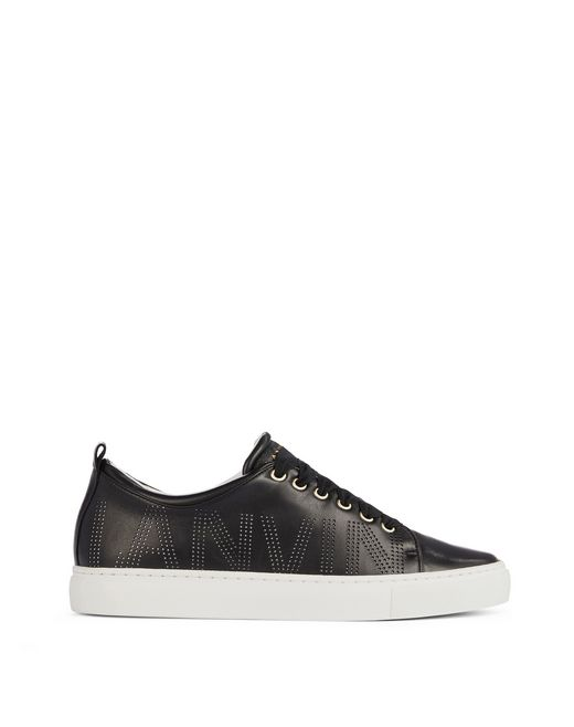 PERFORATED LOGO SNEAKERS - Lanvin