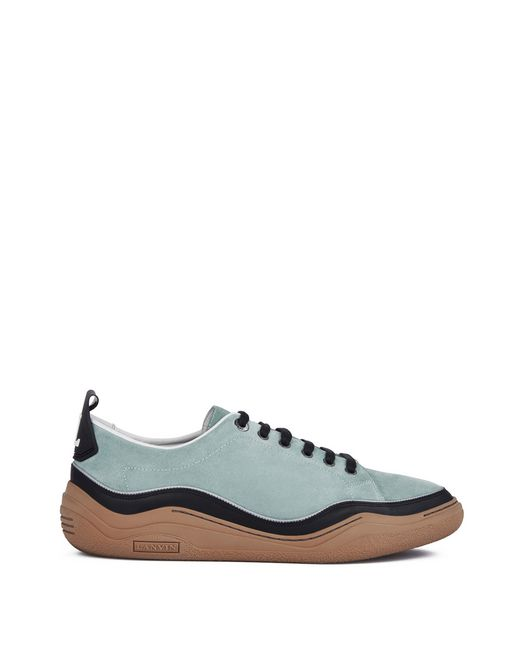 lanvin suede calfskin leather diving sneaker men