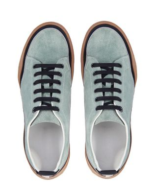 LANVIN SUEDE CALFSKIN LEATHER DIVING SNEAKER Sneakers U a