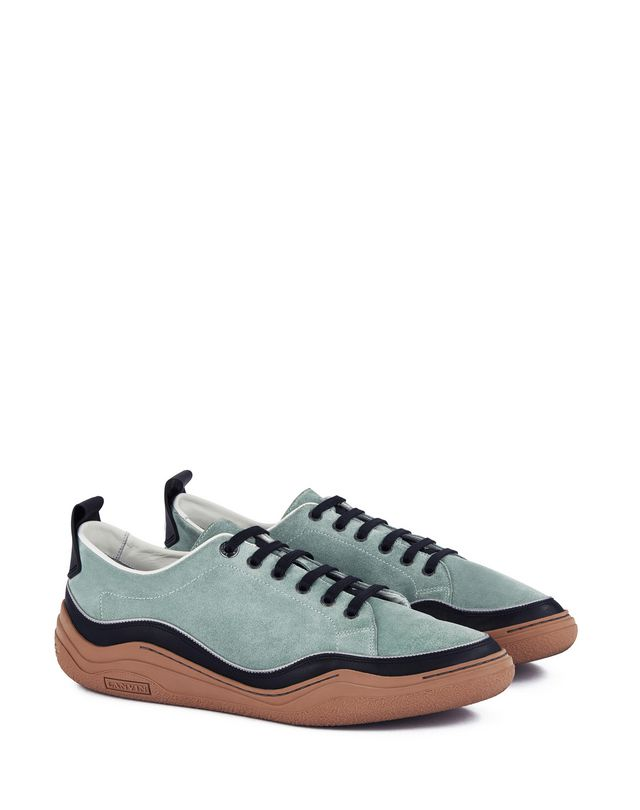 LANVIN SUEDE CALFSKIN LEATHER DIVING SNEAKER Sneakers U r