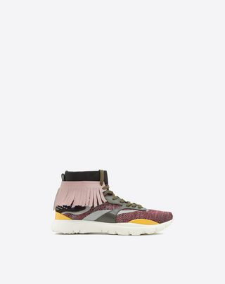 VALENTINO UOMO Heroes Tribe Sneakers  Light purple POLIAMMIDE 11417823MC