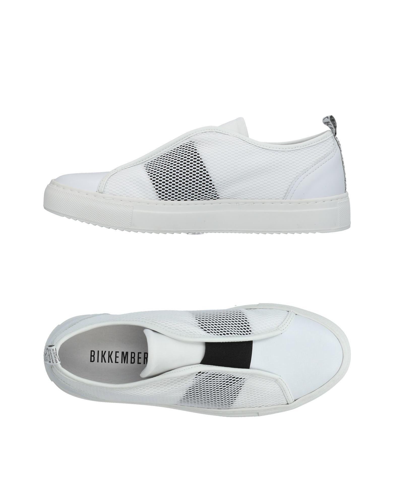 《送料無料》BIKKEMBERGS レディース スニーカー&テニスシューズ(ローカット) ホワイト 36 革 / 紡績繊維