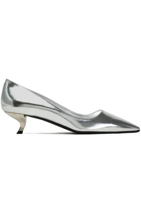 ROGER VIVIER Mirrored-leather pumps