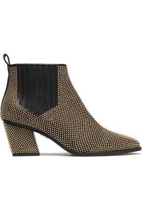 ROGER VIVIER Studded leather ankle boots