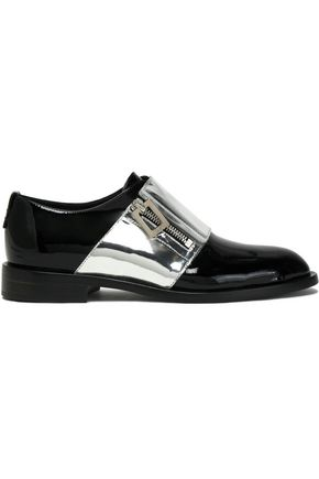 ROGER VIVIER Metallic patent-leather brogues