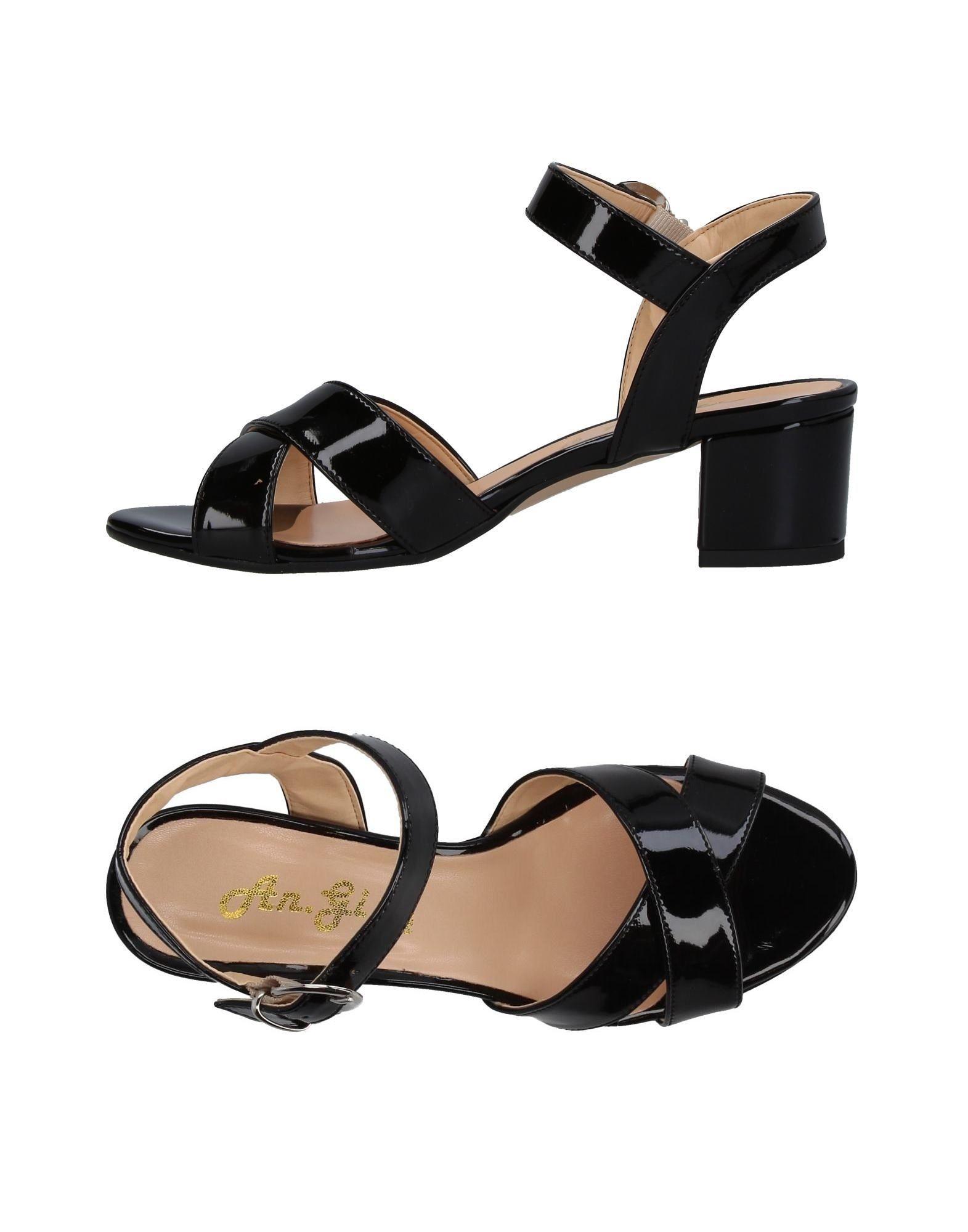AN.GI Damen Sandale Farbe Schwarz Größe 9