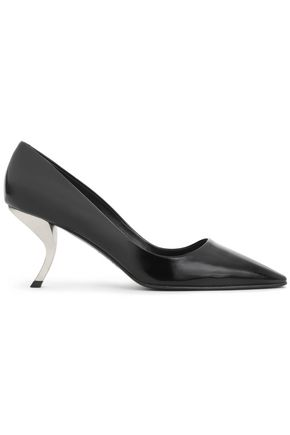 ROGER VIVIER Glossed-leather pumps