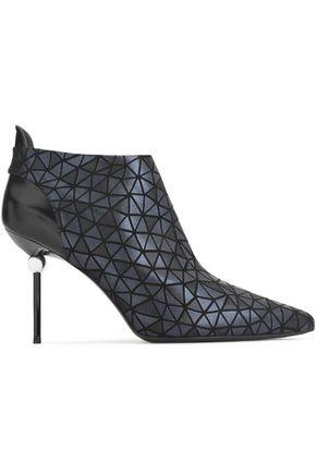 ROGER VIVIER Embellished printed leather ankle boots