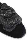 ROGER VIVIER Metallic floral-appliquéd velvet slippers