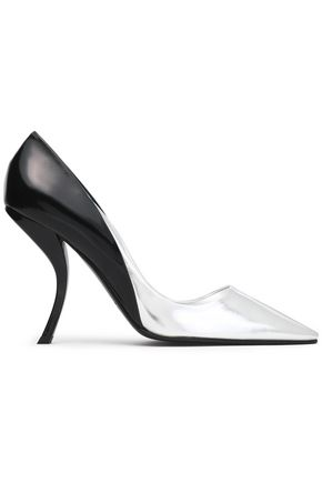 ROGER VIVIER Mirrored and glossed-leather pumps
