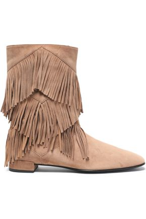 ROGER VIVIER Fringed suede ankle boots