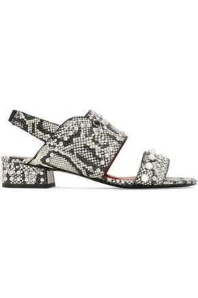 3.1 PHILLIP LIM Studded snake-effect leather sandals