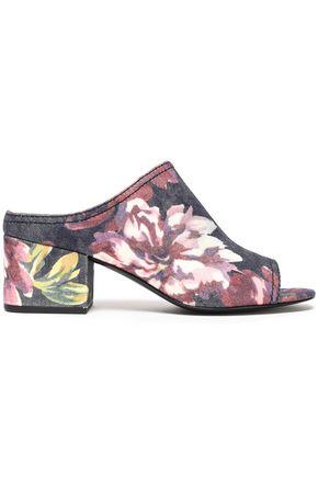 3.1 PHILLIP LIM Floral-print denim mules