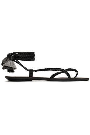 LOEFFLER RANDALL Lace-up braided leather sandals
