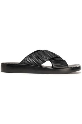3.1 PHILLIP LIM Ruched leather slides